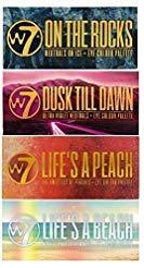 W7 Ultimate Eyeshadow Collection On The Rocks, Life's A Peach, Life's a Beach & Dusk Till Dawn