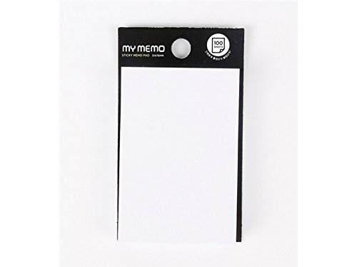Office Square Sticky note per classificazione colore puro messaggio note (bianco), scuola blueqier