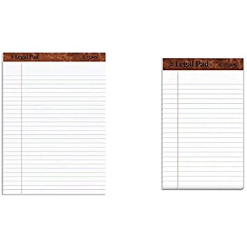 """Legal Rule TOPS The Legal Pad Writing Pads 12 Pack ... 50 Sheets 5/"""" x 8/"""" Jr"""
