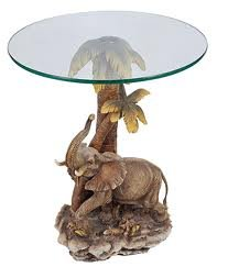 26u0026quot;h Jungle Elephant Theme Table