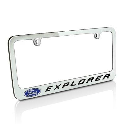 Ford Explorer Chrome Metal License Plate (Ford Logo License Plate Frame)