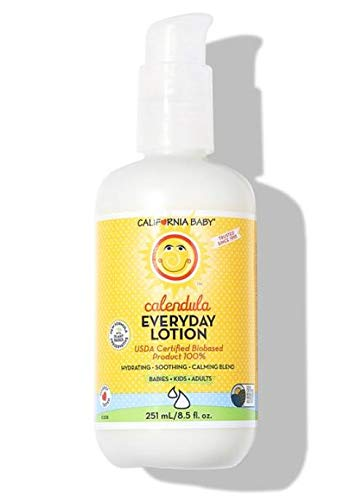 California Baby Calendula Everyday Lotion (8.5 Ounces) Moisturizer for Dry, Sensitive Skin | Post Bath and Diaper Changing | Non-Greasy, Fast-Absorbing Formula