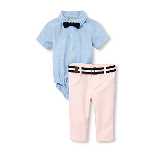 Boys Preppy Clothing (The Children's Place Baby Boys Novelty Bow Tie Outfit Set, Ocean Front,)
