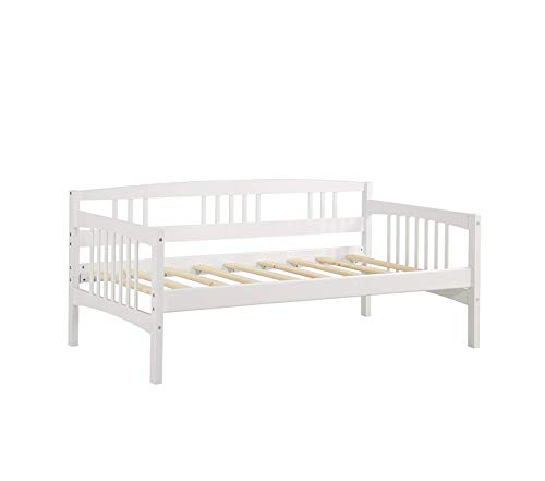 Office Home Furniture Premium Kayden Daybed Solid Wood, Twin, White