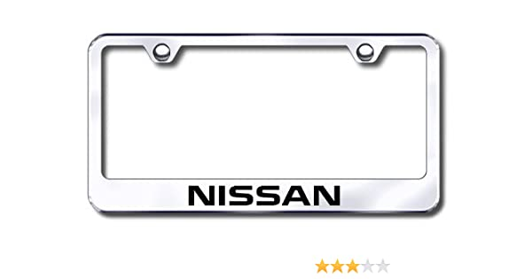 amazoncom nissan license plate frame automotive