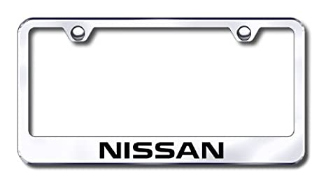 Amazon.com: Au-tomotive Gold Nissan Laser Etched Stainless Steel ...