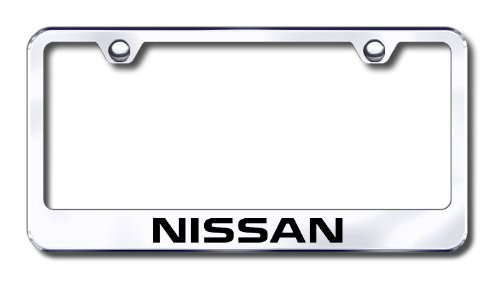 amazoncom nissan laser etched stainless steel license plate frame automotive