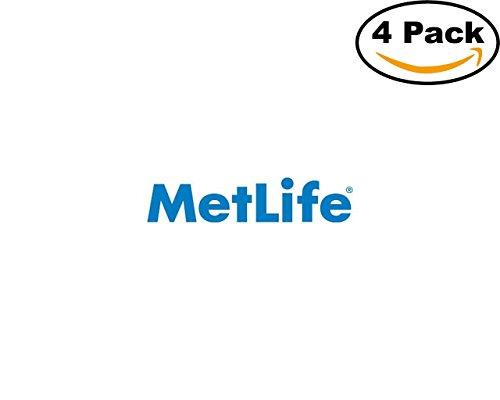 Metlife Logo 4 Stickers 4X4 Inches Car Bumper Window Sticker Decal