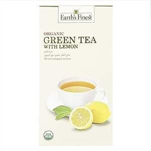Earth's Finest Organic Green Tea with Lemon - 25 Tea Bags