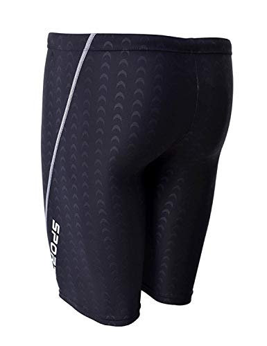 ff4f678da4800 ... EASEA Men`s Rapid Swim Splice Quick Dry Jammer Swimsuit Black 2X-Large  ...