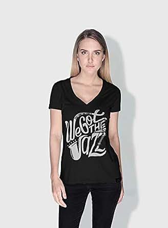 Creo We Got The Jazz Trendy T-Shirts For Women - M, Black