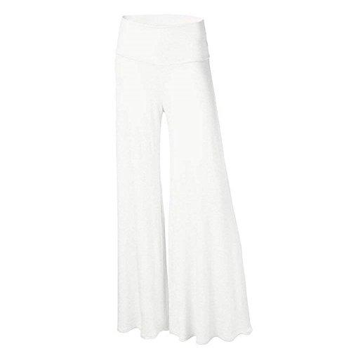 Vita Pantaloni Campana Festivo Moda Solidi A Pants Donna Elasticit Elastico Colpo Elegante Colori Alta Lunga vwxpIpT5q