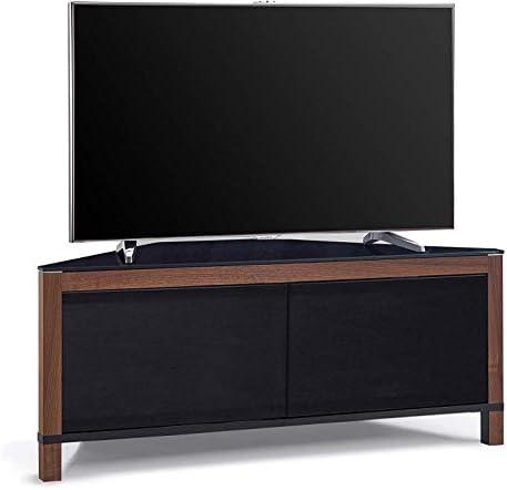 Homeology Volans - Mueble esquinero para televisor con Pantalla Plana de 2 Puertas (Cristal Intercambiable), Color Negro y Nogal: Amazon.es: Electrónica