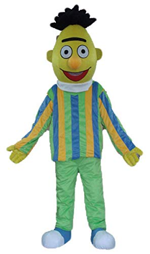 ARISMASCOTS Adults Bert and Ernie Mascot Costume Cartoon Character Costumes for Party