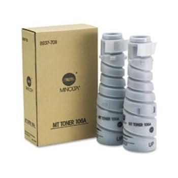 Konica Minolta Part # 8937708 Toner Cartridge OEM Black Twin Pack - 11.000 Pages Ea. (8937782. TN114. 106A)