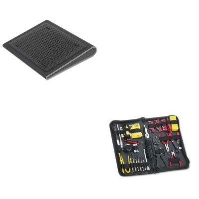 KITFEL49106TRGAWE55US - Value Kit - Targus Lap Chill Mat (TRGAWE55US) and Fellowes 55-Piece Computer Tool Kit in Black Vinyl Zipper Case (FEL49106) by Targus
