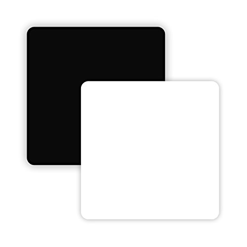 AbleDIY Non Reflective and Reflective 15.850 x 15.850 in. Black & White Acrylic Display Boards for Tabletop Product Photography - Reflective / Matte / Flat Finish - Board Background