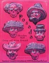 Sugar Skull Mold - Posada - Chocolate Mold