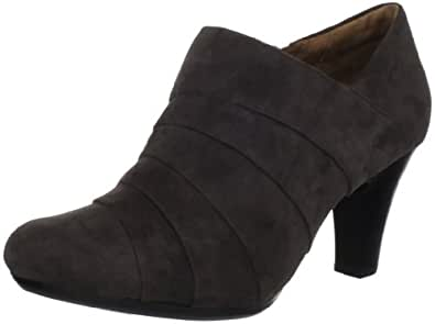 Clarks Women's Society Gown Ankle Boot,Pewter,9.5 W US