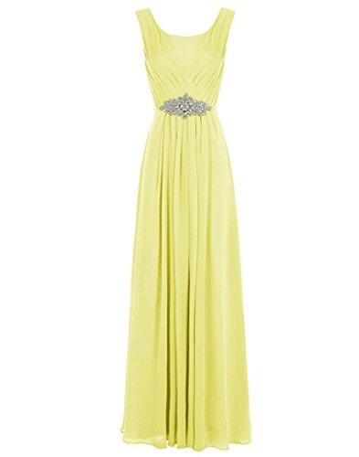 JYDress - Vestido - trapecio - para mujer amarillo