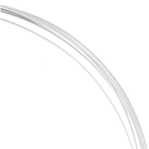 Beadaholique Sterling Silver Wire Half Round Half Hard 22 Gauge (5 Feet)