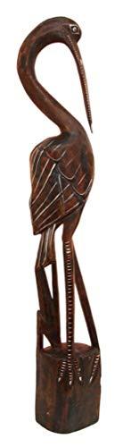 Ky & Co YK Balinese Wood Handicraft Large Majestic Stork Heron Bird Figurine 31.5