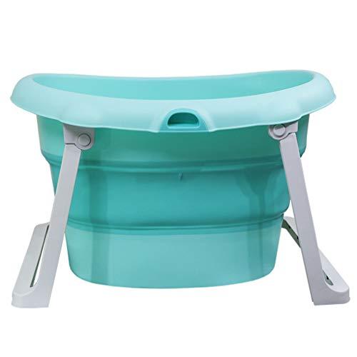 Aimarn Niños Niño Bañera Plegable Bebé Piscina Portátil Plástico Bañera Plegable Gran Piscina No Inflable De...