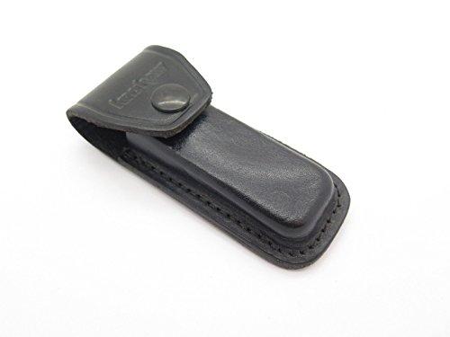 New Old Stock Kershaw 1320 Folding Hunter Knife Black Leather Sheath USA Made Camping Hunting - Sheath Kershaw Leather
