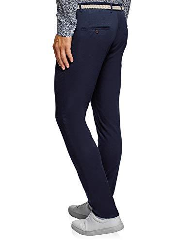 Blu Chino Pantaloni Uomo Ultra Cintura Oodji 7800n Con Intrecciata 7qwzaTx1