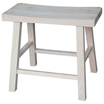 Amazon Com Winsome Wood 24 Quot Saddle Seat Stool Nat