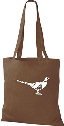 Oiseaux Marron Shirtstown Moyen Animaux Pochette En Tissu Faisan BRBxqAvfXw