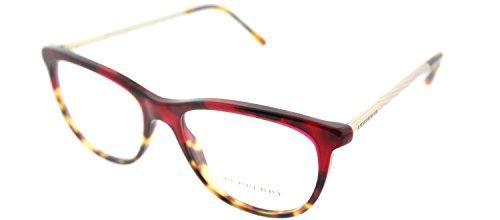 Burberry BE2189 Eyeglass Frames 3664-52 - Red Havana/light Havana - Burberry Eyeglasses Red