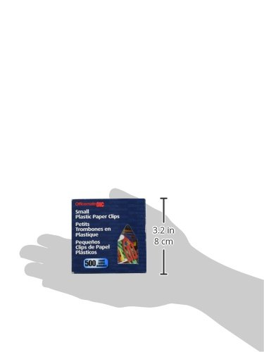 OfficemateOIC Plastic Paper Clips, Small, 1-Inch, Box of 500 (99901) Photo #2