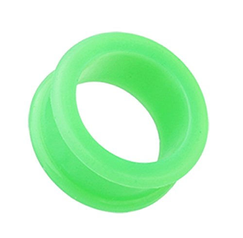 Tunnels Flared Steel Surgical Double - Freedom Fashion Flexible Silicone Double Flared Ear Gauge Tunnel Plug (Sold by Pair) (3/4