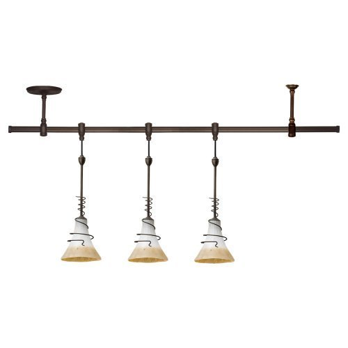 Sea Gull Lighting 94512-71 Island Pendant with Ember Glow?lass Shades, Antique Bronze Finish by Sea Gull (Ember Finish)