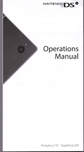 nintendo dsi operations manual nintendo corporation amazon com books rh amazon com Nintendo DSi Menu please refer to the nintendo dsi operations manual for details