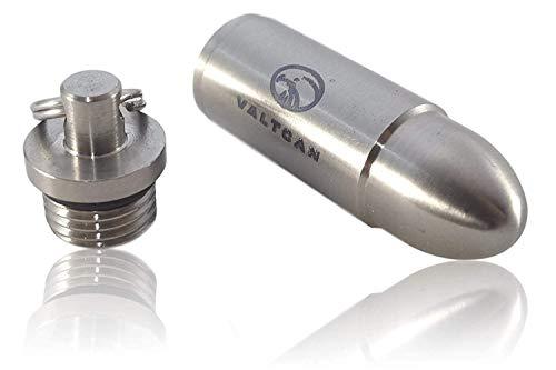 Valtcan Titanium Bullet EDC Pill Fob Pendant (Bullet Pills)