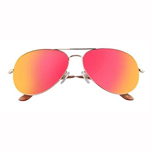 al Protección nuevas el excursionistas sol de de de sol sol UV400 Protección Gafas Gafas Opcional Personalidad Regalo sol para Gafas de aire conducción Orange Piece Gafas Star libre UV Frame sol Gold G 7 de Vintage para colore w0Pq1TWR