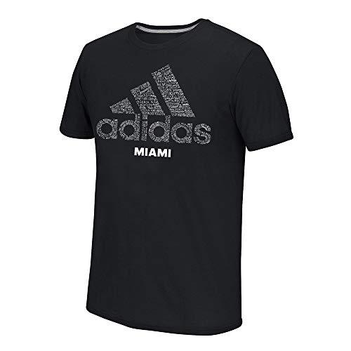- adidas Men's Black Adi EQT Scrawl Miami Logo Climalite Performance T-Shirt (Medium)