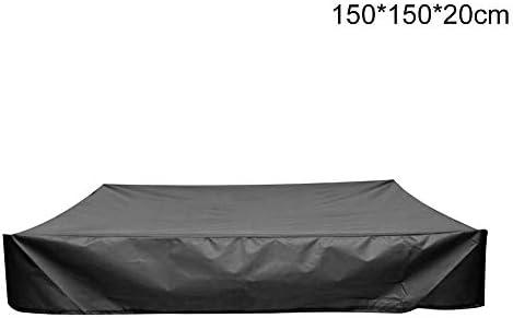サンドボックスカバー保護サンシェード防塵防水スクエアキャノピー砂場プールシェルターバンカー屋外ガーデン巾着付き折りたたみ式オックスフォード布子供のおもちゃ(150x150x20cm)
