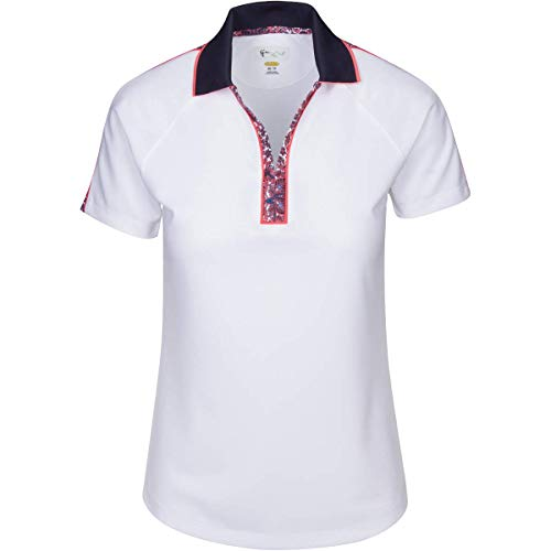 S/s Tipped Collar - Greg Norman Durham S/s Zip Polo, White, X-Large