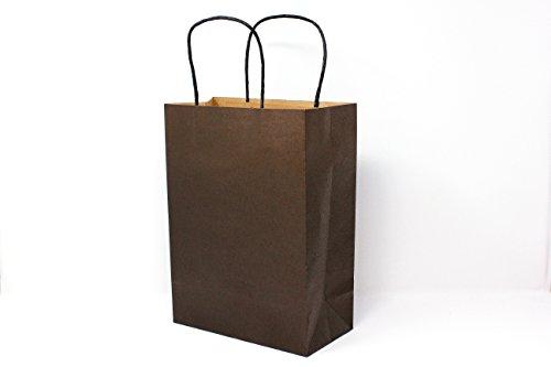 Singular Metallizing Colored Shopping Bags Gift Bags Kraft Paper Bags with Handle (100 pcs) (L7.8