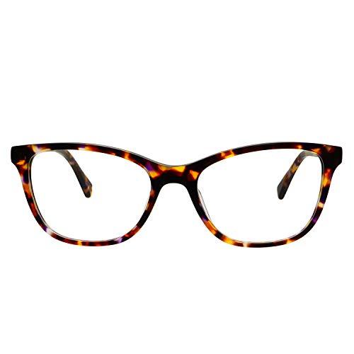 (FREYRS Eyewear Women's Betty Tortoise Rectangular Cat Eye Blue Light Blocking Glasses Frames)
