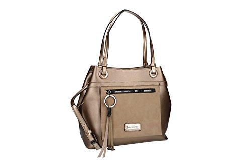 Tasche damen mit Schultergurt PIERRE CARDIN bronze mit offnung zip VN1880 2dKvEaHI7b