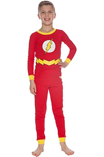 DC Comics Boys' Little Flash Costume Pajama Set, red, -