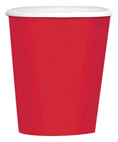 Amscan (Amsdd) Big Party Pack Paper Coffee Cups-Apple Red