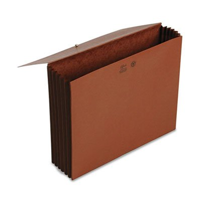 Extra-Wide 5 1/4'' Accordion Expansion Wallets with Elastic Cord, Redrope, Ltr, Total 40 EA, Sold as 1 Carton