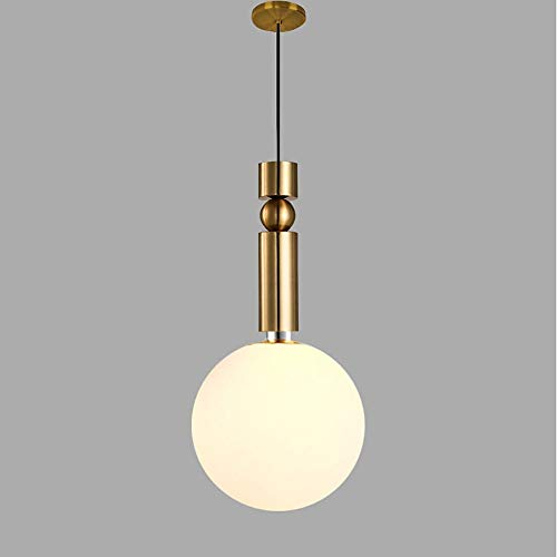 Luminaire suspendu circulaire à lumière ambiante en métal doré, verre AC100-240V