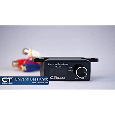 CT Sounds Universal Bass Knob - Digital Voltmeter, Blue LED Display, Remote Gain Control, Power Switch, Durable, Pushable ON/Off for Amp: Electronics