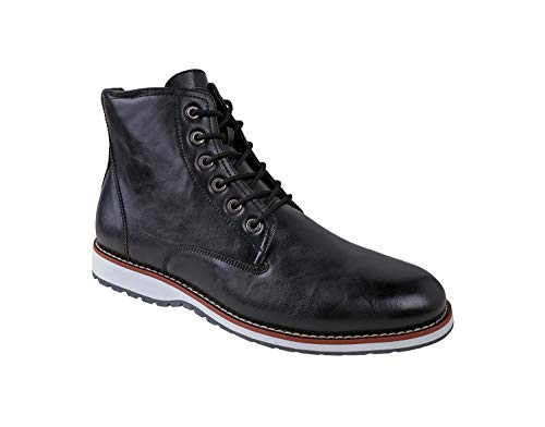 Ferro Aldo Men's Lincoln Ankle Boots | Lace Up | Mens Boots Fashion | Casual Fashion | Chukka Boots Men LI-Black 8 D(M) US